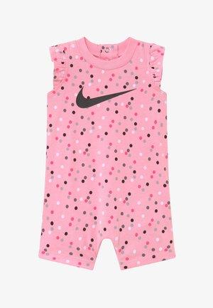 GIRLS FLUTTER SLEEVE ROMPER BABY - Tuta jumpsuit - pink