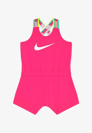 GIRLS RAINBOW ROMPER BABY - Overal - hyper pink