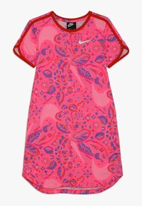 Nike Sportswear - DRESS  - Vestido ligero - hyper pink/habanero red/white - 0