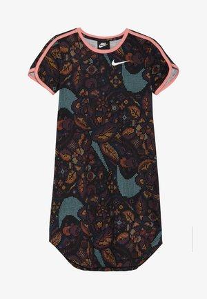 DRESS  - Sukienka z dżerseju - black/pink gaze/white