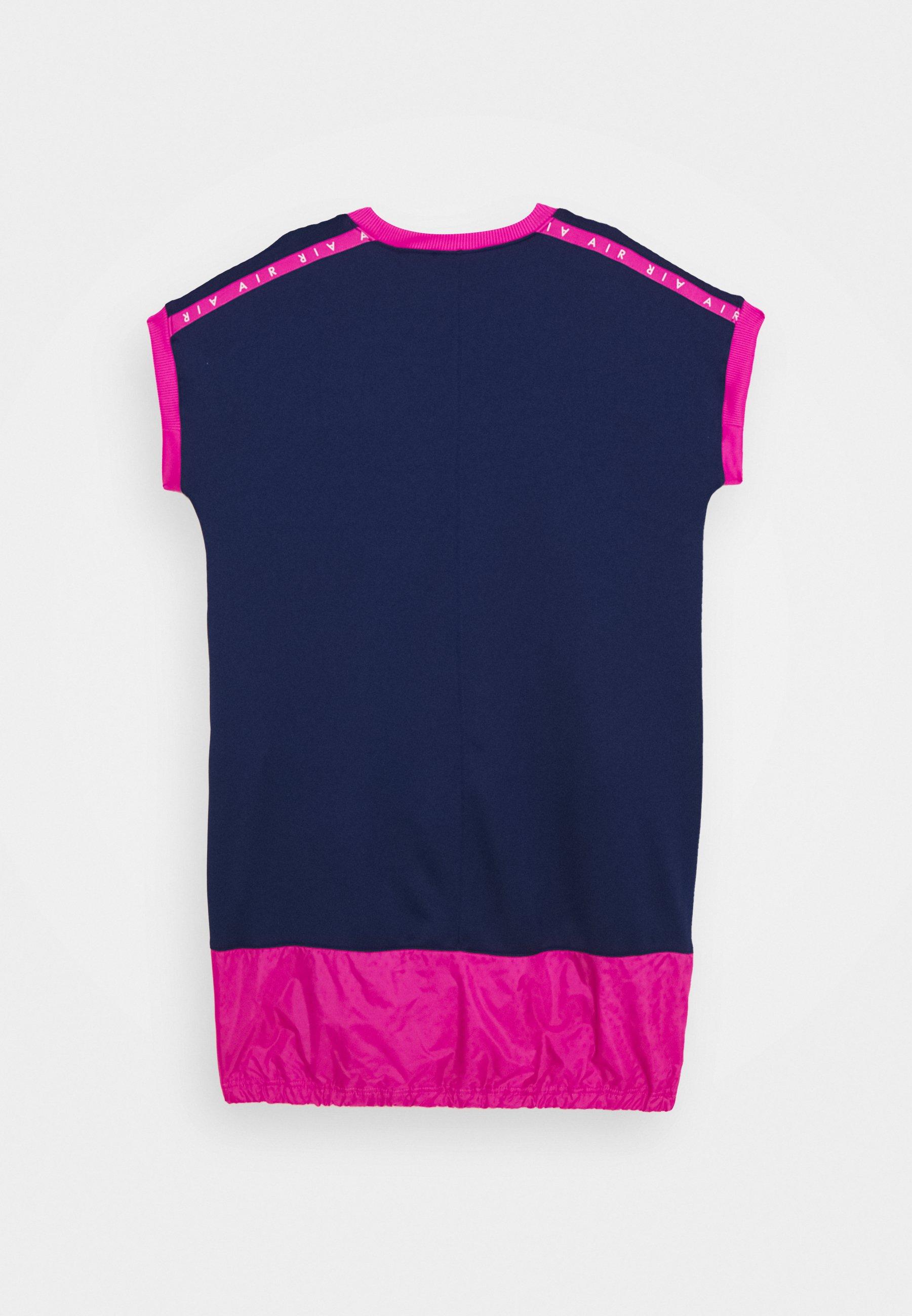 AIR DRESS Robe en jersey blue voidactive fuschia