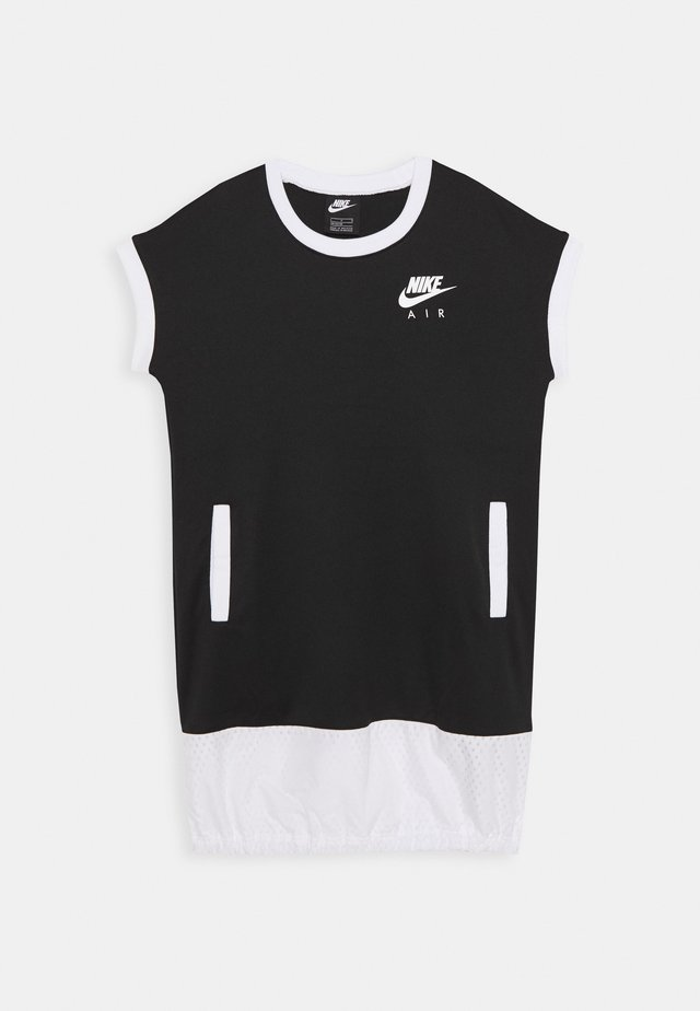 AIR DRESS - Vestito di maglina - black/white