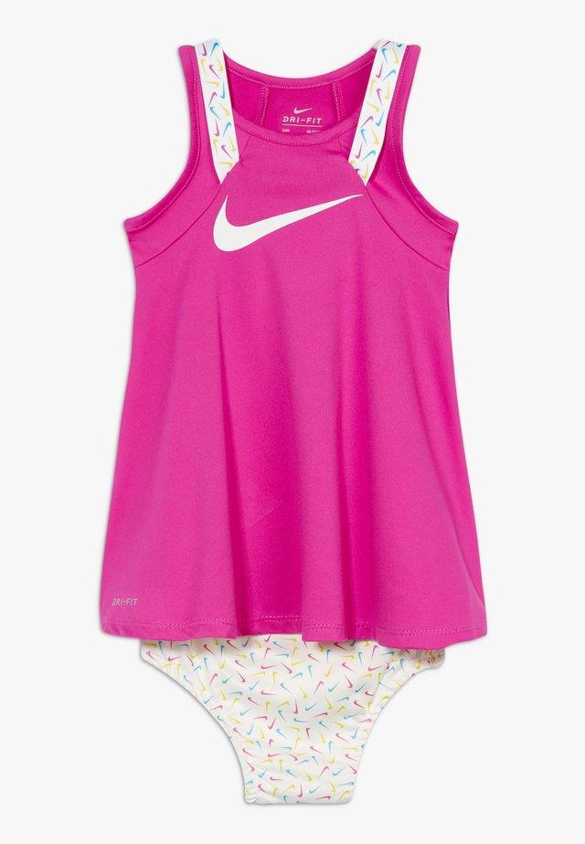 MULTI TAPING DRESS BABY SET - Korte jurk - fire pink