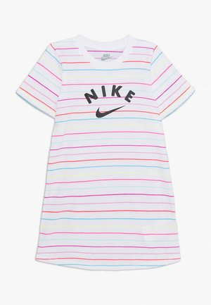 STRIPE DRESS - Trikoomekko - white