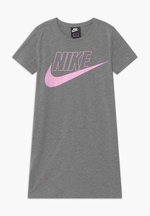 FUTURA - Jersey dress - carbon heather/arctic pink