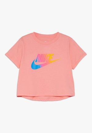 TEE CROP - T-shirt med print - pink gaze