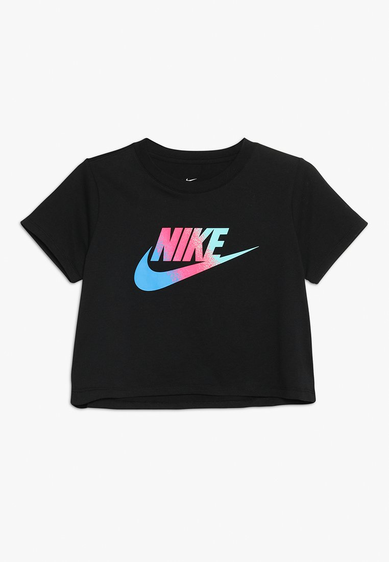 Nike Sportswear - TEE CROP - T-shirt imprimé - black
