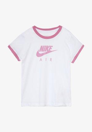 TEE AIR LOGO RINGER - Camiseta estampada - white/magic flamingo