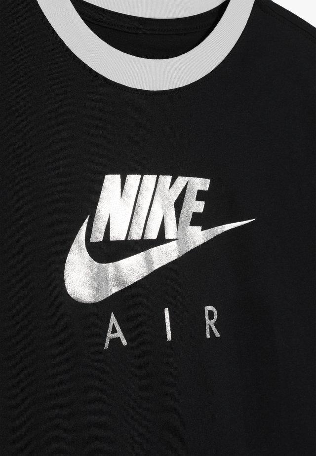 TEE AIR LOGO RINGER - Camiseta estampada - black