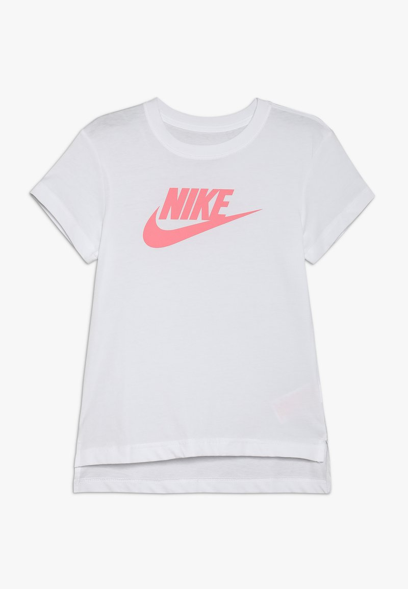 Nike Sportswear - TEE BASIC FUTURA - Print T-shirt - white/pink gaze