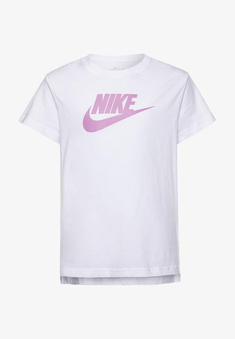 Nike Sportswear - BASIC FUTURA - Print T-shirt - white/magic flamingo