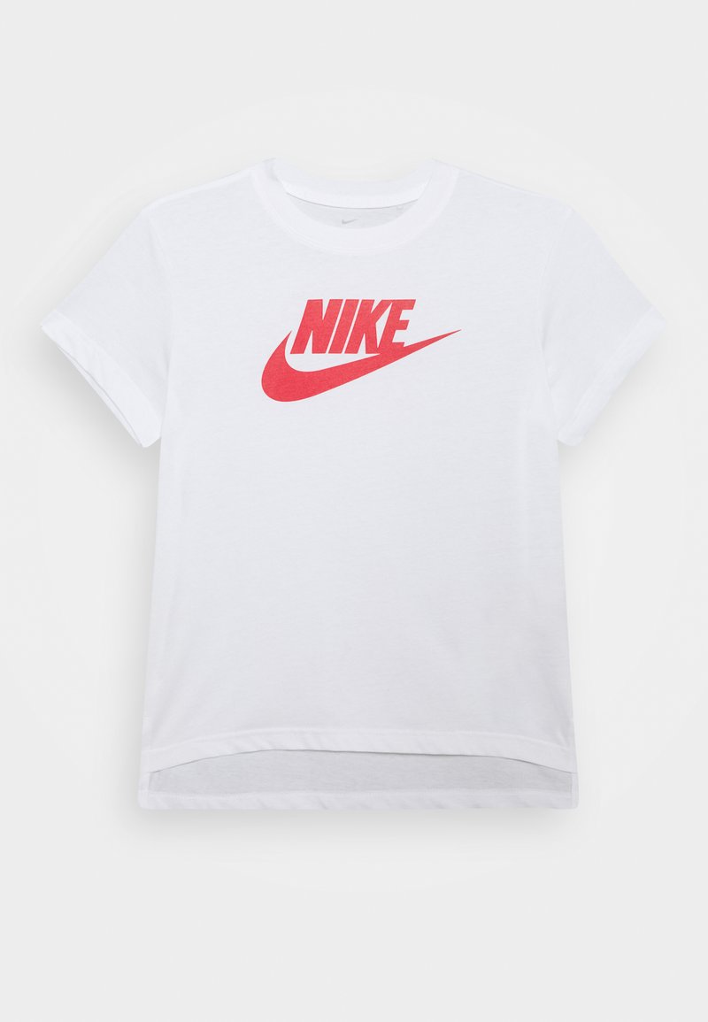 Nike Sportswear - TEE BASIC FUTURA - Camiseta estampada - white/university red