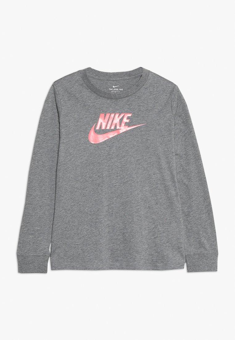 Nike Sportswear - FUTURA HOOK - Long sleeved top - carbon heather