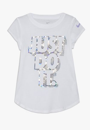 IRIDESCENT SCOOP TEE - Print T-shirt - white