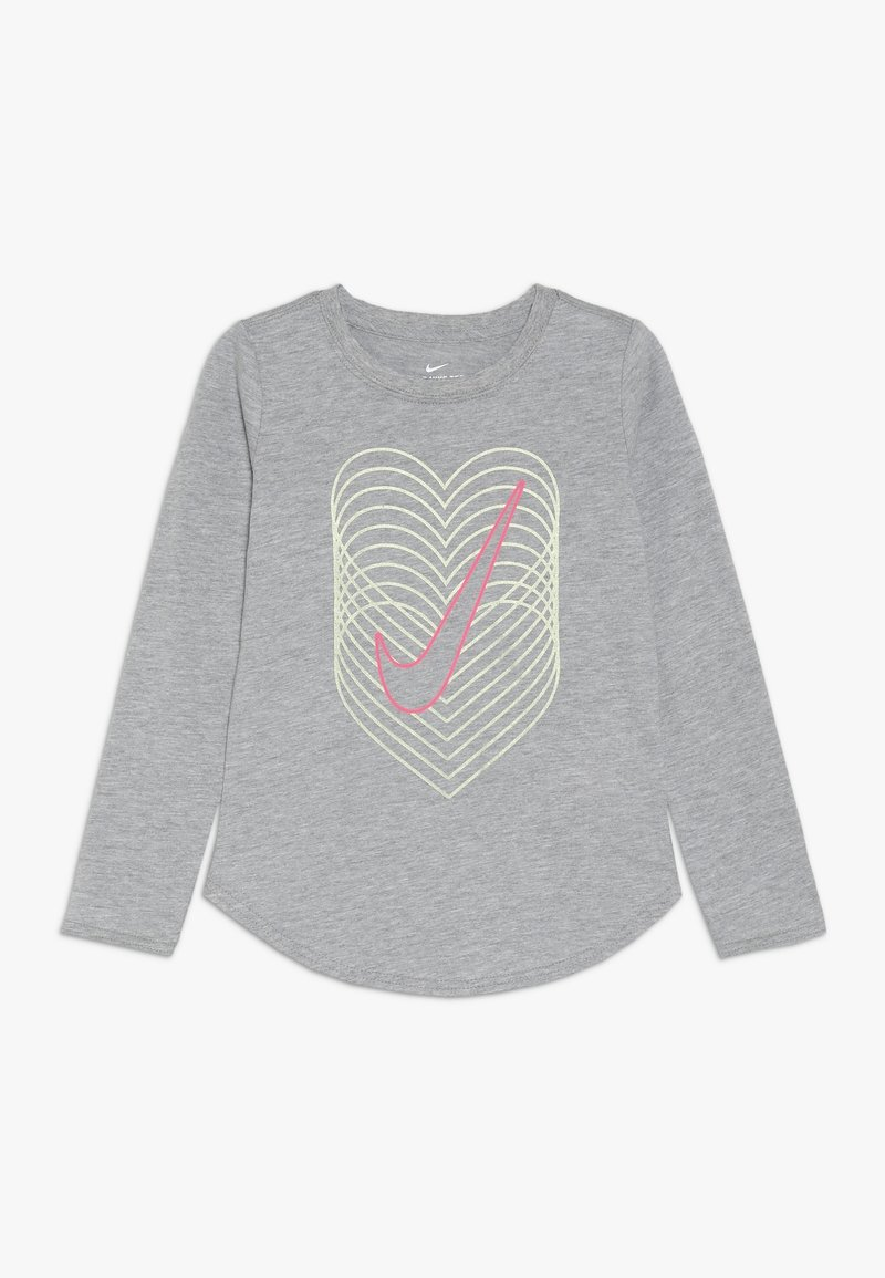 Nike Sportswear - HEART REVERB SCOOP TEE - Långärmad tröja - dark grey heather