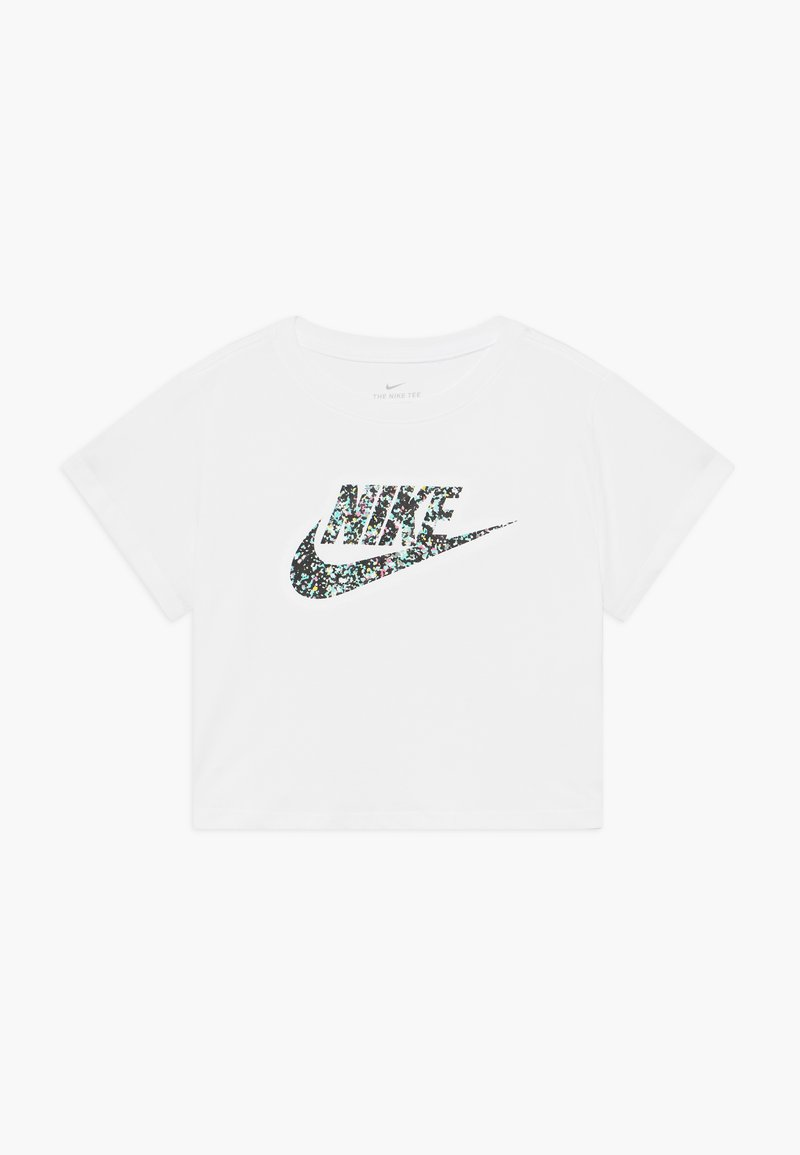 Nike Sportswear - CROP FUTURA - T-shirt con stampa - white