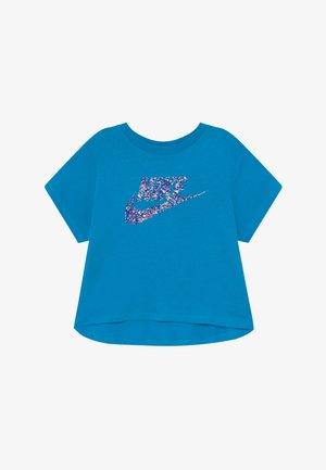 CROP FUTURA - T-shirt print - laser blue