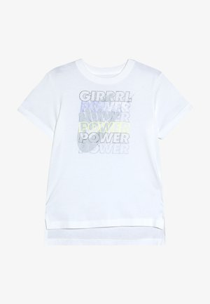 TEE GIRL POWER - Print T-shirt - white