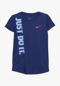 Nike Sportswear - GIRLS JUST DO IT SPLIT  - Print T-shirt - indigo force - 0
