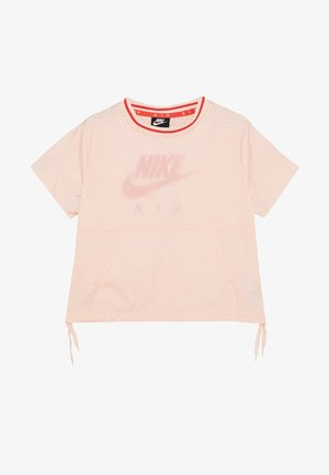 Print T-shirt - washed coral/track red