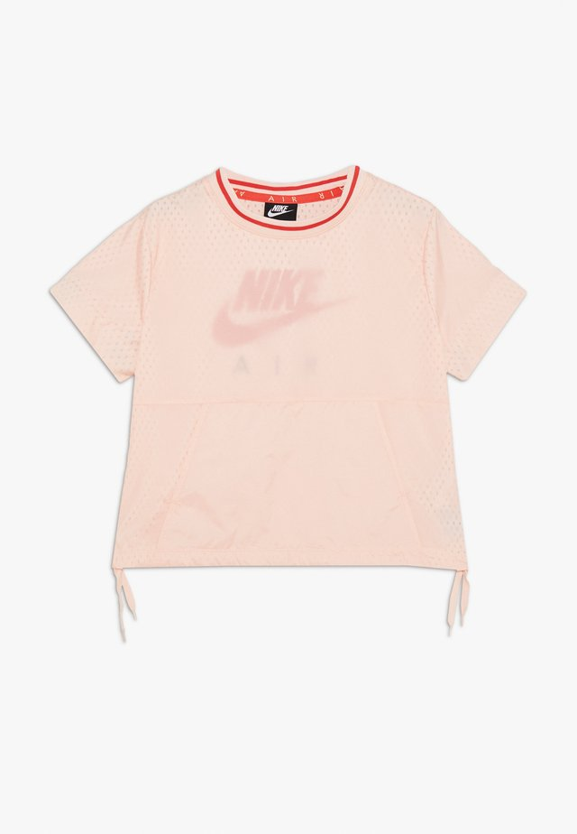 Printtipaita - washed coral/track red