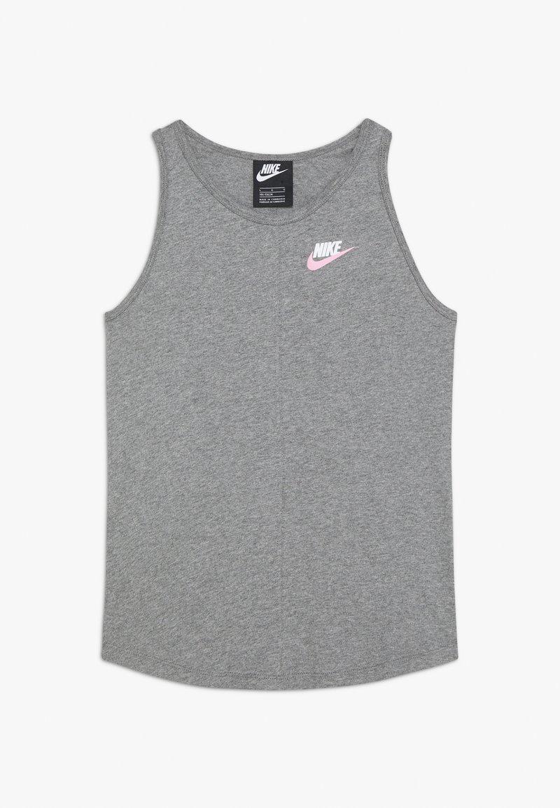 Nike Sportswear - TANK - Top - carbon heather/pink
