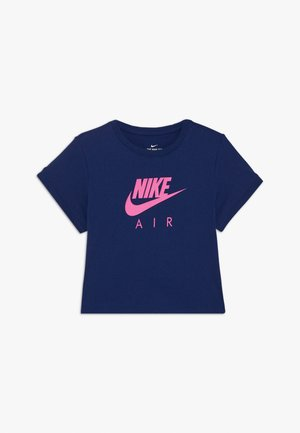 TEE AIR CROP - Printtipaita - blue void
