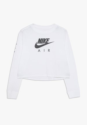 TEE AIR CROP - Long sleeved top - white