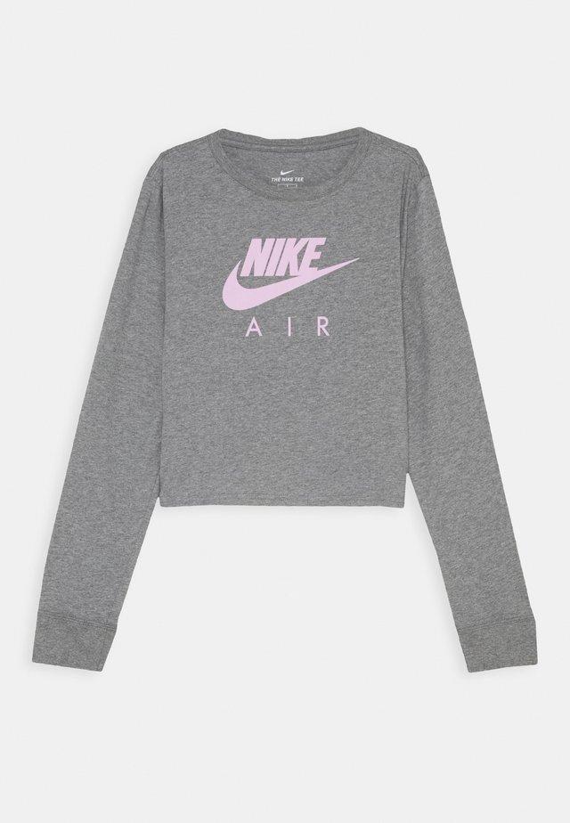 TEE AIR CROP - Pitkähihainen paita - carbon heather