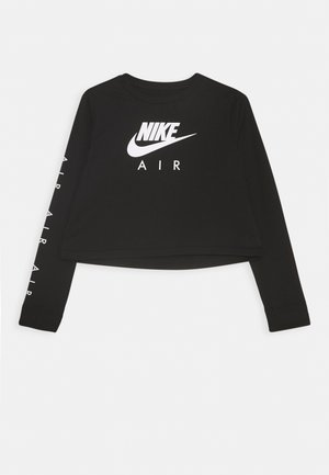 TEE AIR CROP - Long sleeved top - black