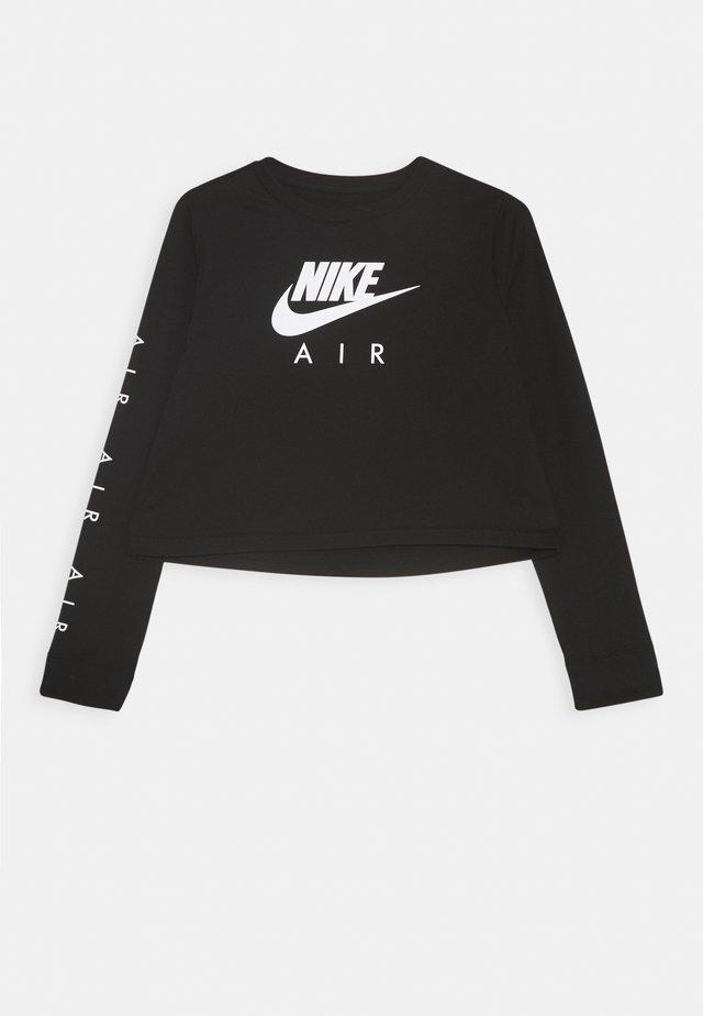 TEE AIR CROP - Pitkähihainen paita - black