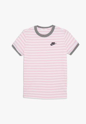 TEE STRIPE RINGER - Camiseta estampada - white/pink