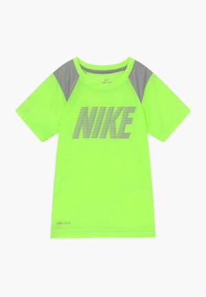 DOMINATE BLOCK - Print T-shirt - ghost green