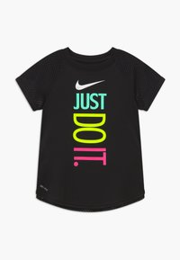 Nike Sportswear - GIRLS ACTIVE - T-shirt z nadrukiem - black - 0