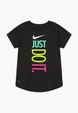 GIRLS ACTIVE - T-shirt con stampa - black