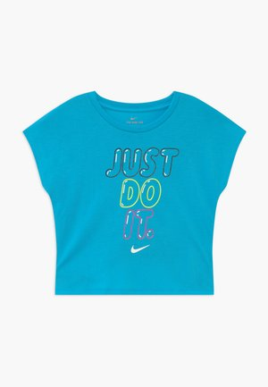 BUBBLE BOXY - Print T-shirt - blue fury