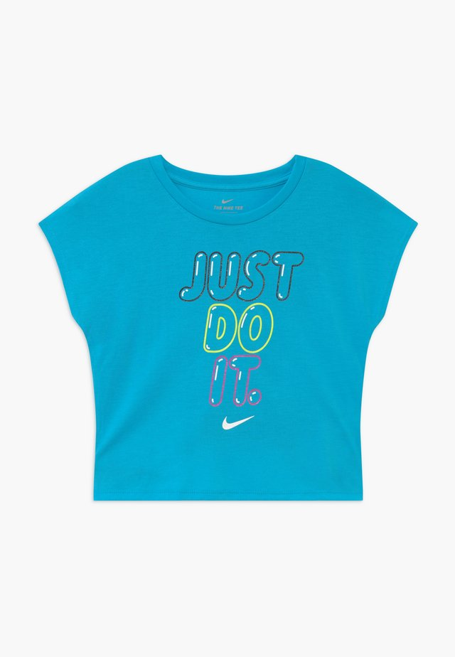 BUBBLE BOXY - T-shirt print - blue fury