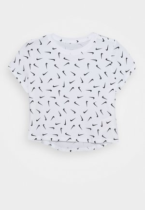 TEE CROP - T-shirt imprimé - white/black