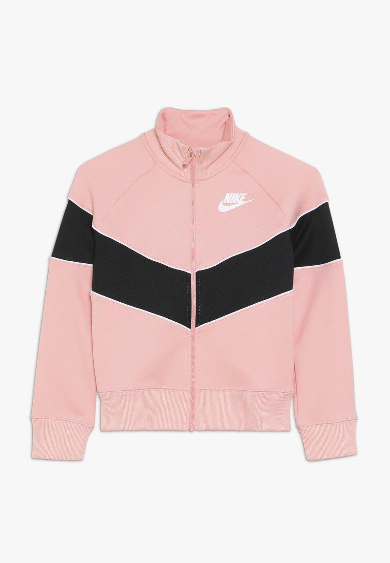 Nike Sportswear - HERITAGE  - Zip-up hoodie - bleached coral/black/white