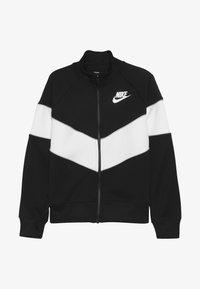 Nike Sportswear - HERITAGE  - Felpa aperta - black/white/wolf grey - 3