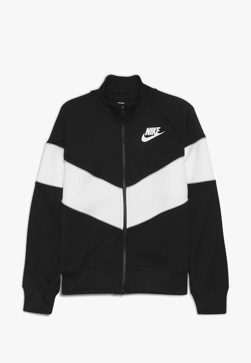 Nike Sportswear - HERITAGE  - Felpa aperta - black/white/wolf grey