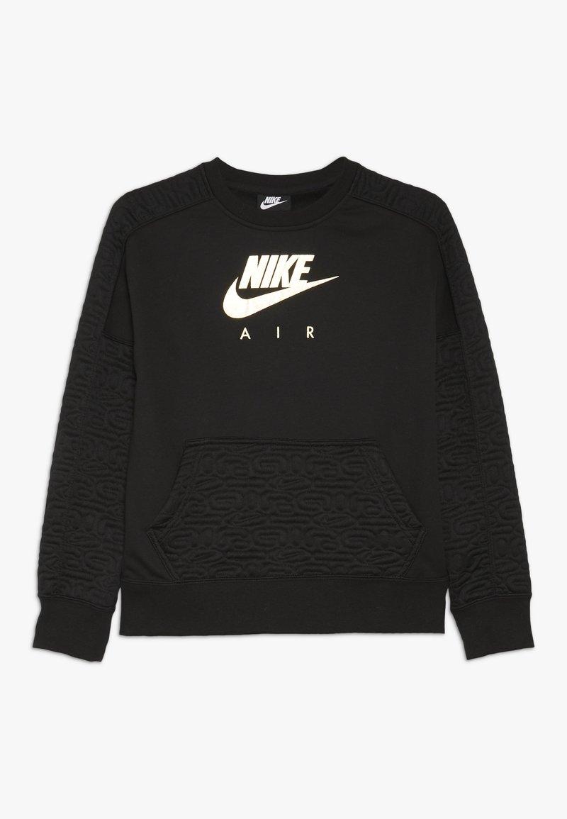 Nike Sportswear - CREW - Sweatshirt - black/metallic gold