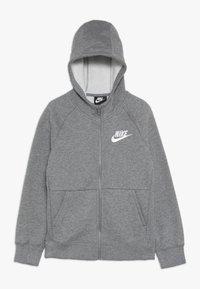 Nike Sportswear - G NSW PE FULL ZIP - veste en sweat zippée - carbon heather/white - 0