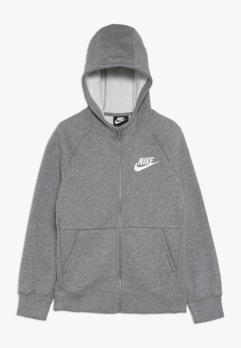 Nike Sportswear - G NSW PE FULL ZIP - veste en sweat zippée - carbon heather/white