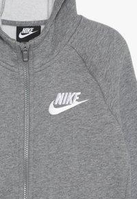Nike Sportswear - G NSW PE FULL ZIP - veste en sweat zippée - carbon heather/white - 4
