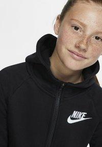 Nike Sportswear - G NSW PE FULL ZIP - Felpa aperta - black/white - 3