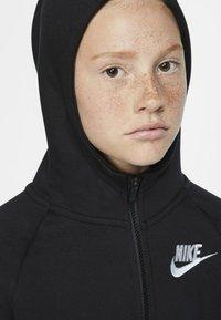 Nike Sportswear - G NSW PE FULL ZIP - Felpa aperta - black/white - 4