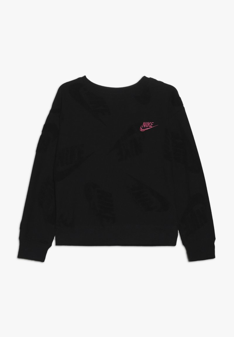 Nike Sportswear - FUTURA NOVELTY CREW - Long sleeved top - black heather