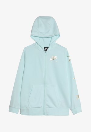 AIR - veste en sweat zippée - teal tint/metallic gold