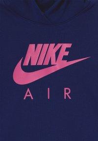 Nike Sportswear - NIKE AIR CROP HOODIE - Hoodie - blue void/fire pink - 3